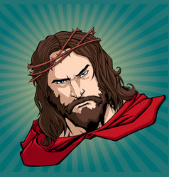 Jesus superhero portrait vector