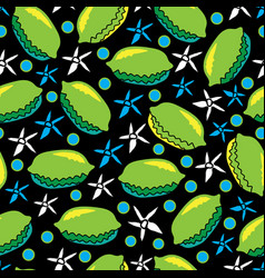 lime and flowers-fruit delight seamless repeat vector image