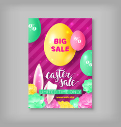 Limited time card easter sale vector
