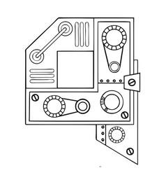 mechanical letter q engraving vector image