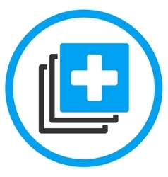 Medical Documents Rounded Icon vector