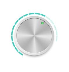 Metallic volume button vector