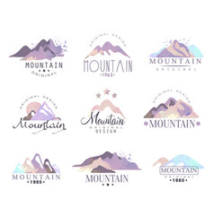 Mountain original logo design since 1965 year vector