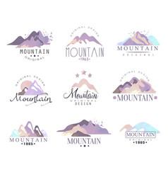 Mountain original logo design since 1965 year vector