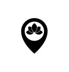 nature spa locate logo design template vector image