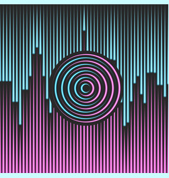 neon abstract city in style cyberpunk made vector image