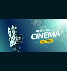 online cinema poster concept background movie vector image