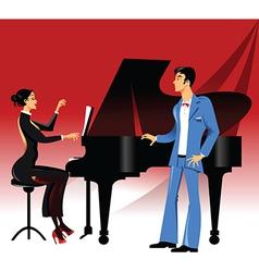 Opera concert vector image