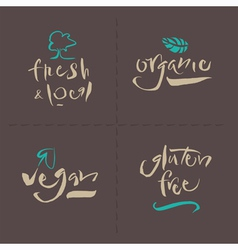 Organic local gluten vegan vector