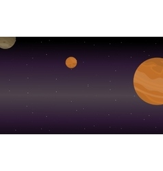 Outer space landscape collection vector