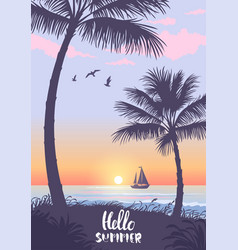 palm trees summer vector image