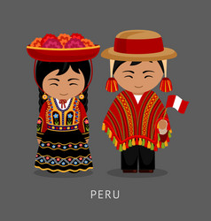 peruvian in national dress vector image