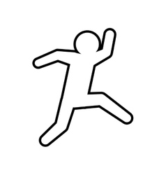 Pictogram jumping icon Person doing action design vector image