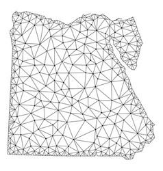 Polygonal network mesh map of egypt vector