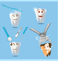 professional dental services concept vector image