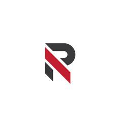 R letter logo business vector