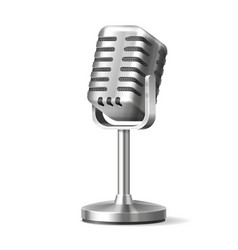 radio microphone or karaoke mic with stand vector image