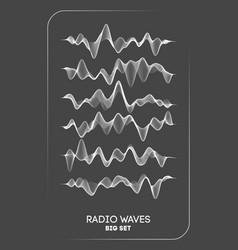 Radio waves radio frequency identification vector