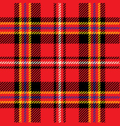 red and yellow tartan seamless pattern vector image
