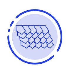 Rotile top construction blue dotted line line vector