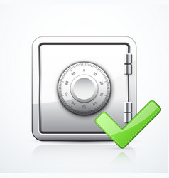 safe and check mark vector image
