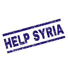 Scratched textured help syria stamp seal vector