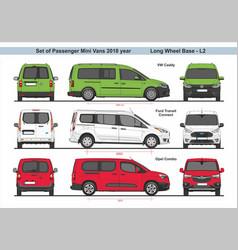 Set passenger mini vans lwb l2 2018 vector