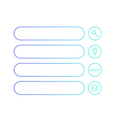 Set search flat design icons for graphic user vector