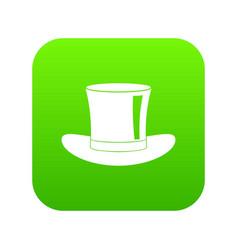 silk hat icon digital green vector image