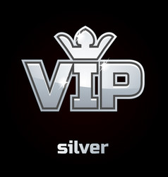 silver vip symbol set 2 vector image