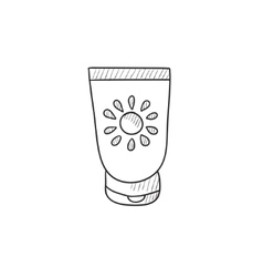 Sunscreen sketch icon vector