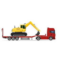 Truck semi trailer concept 12 vector