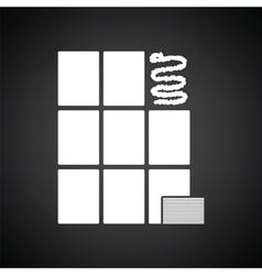 Wall tiles icon vector image