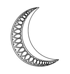 waning moon icon black and white vector image