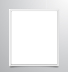 White Photo Frame vector image