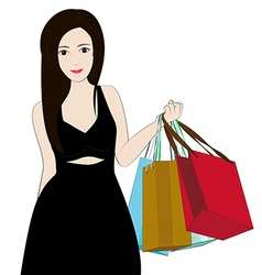 Women shopping vector