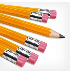 Wooden sharp pencils vector image