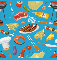 barbecue party products bbq grilling kitchen vector image