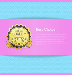 best choice high quality award vector image