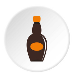 big bottle icon circle vector image vector image