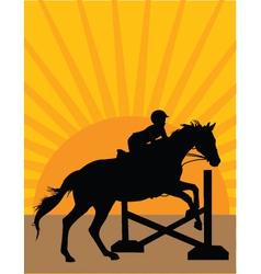 horse jumper vector image vector image