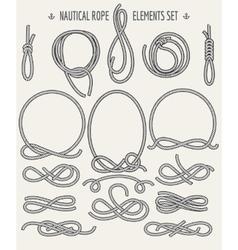 Nautical Rope Elements Set vector image