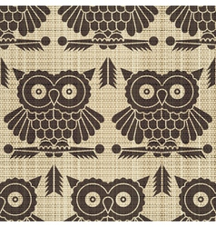 owls print vector image vector image