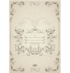 Vintage ornate frame with retro background vector image