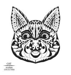 Zentangle stylized cat Sketch for tattoo or t vector image vector image