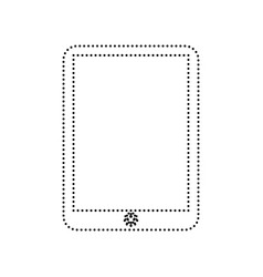 computer tablet sign black dotted icon on vector image vector image