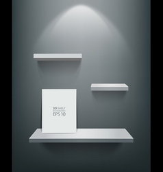 empty white shelf and frame vector image