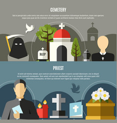 funeral services banners set vector image