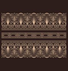 horizontal seamless patterns ornamental borders vector image