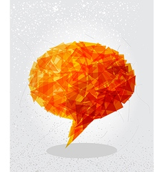 Orange social bubble shape vector image